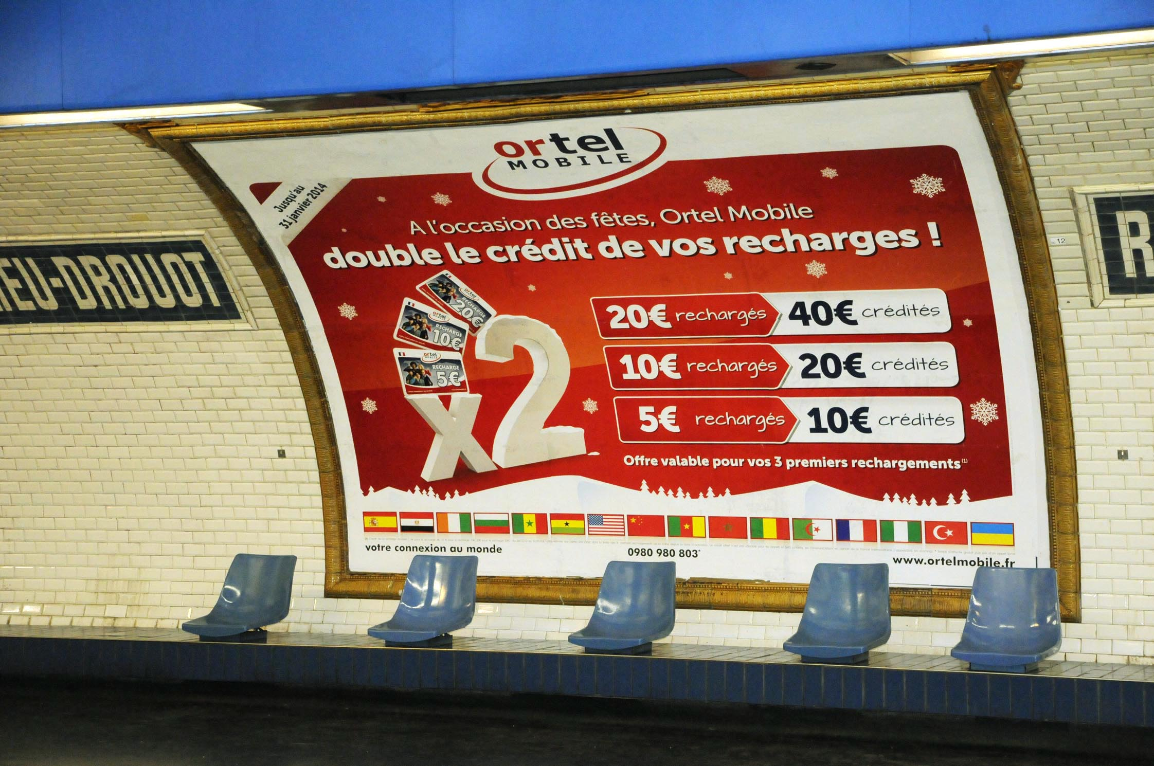 Advertising campaign in paris metro tt visual for Advertising agency paris